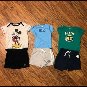 3 Outfits 6-9 months